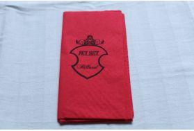 serviette en papier rouge personnalisée 2
