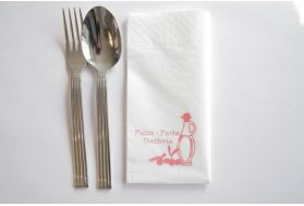 serviette en papier personnalisée 40x40 marron
