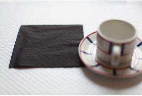 Serviette Noir 20x20 par 3000