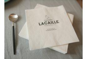 Serviettes en papier personnalisées traiteurs