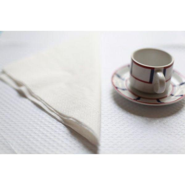 Serviette en papier blanche pour restaurant et grossiste - Serviette de table blanche pas cher ...