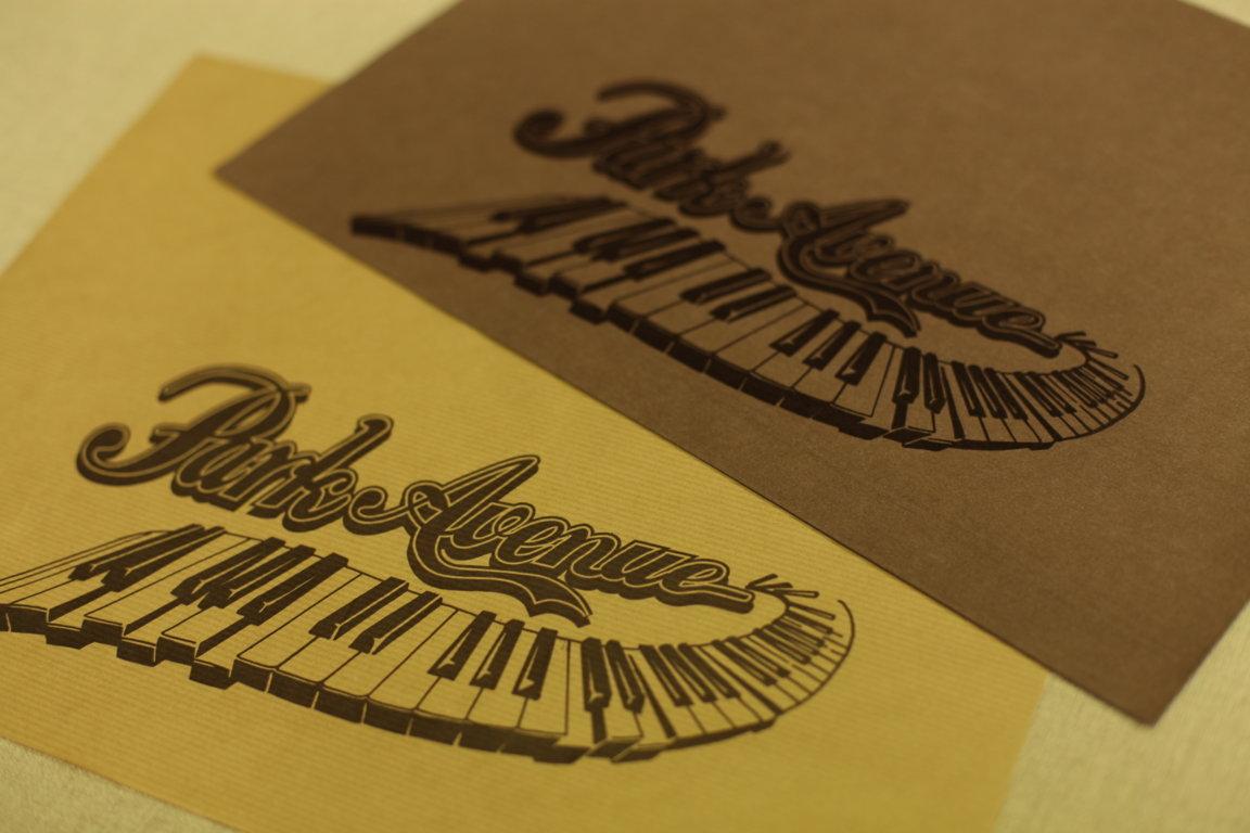 Sets de table imprimés marrons